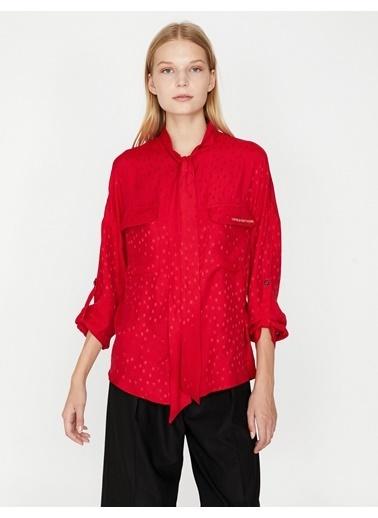 Koton Uzun Kollu Gömlek Kırmızı